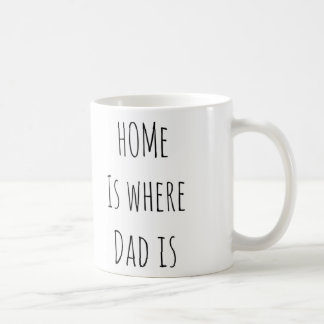 Father's Day home is where dad is Coffee Mug