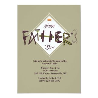 Father's Day Icons Invitation