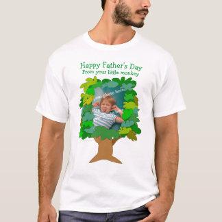 Fathers Day Little Monkey Photo Shirt Template
