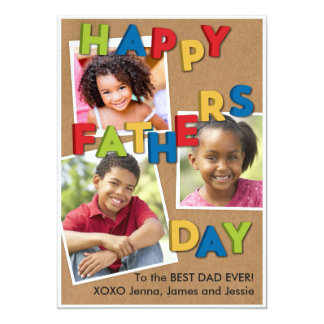 Father's Day Magnets 13 Cm X 18 Cm Invitation Card