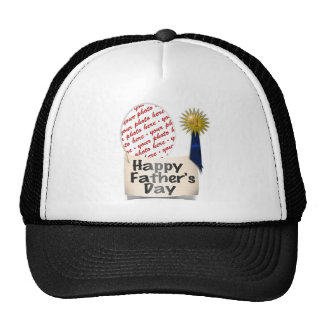 Father's Day Memento Frame custom Trucker Hat