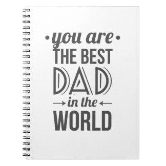 Father's day message best dad in the world notebooks