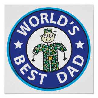 Fathers Day Military Dad Poster