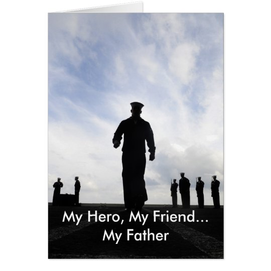 Father's Day Military Navy Sailor Greeting Card