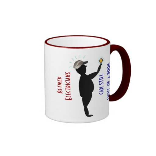 Father's Day Mug: Retired Electrician -