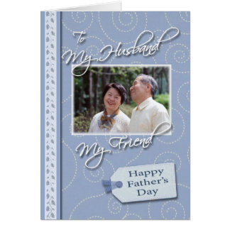 Father's Day, My Husband - Photo card template