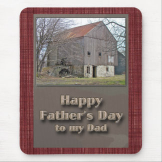 Father's Day Old Pennsylvania Bank Barn Mouse Pad