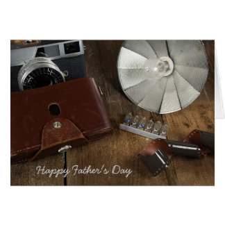 Father's Day- old photography equipment Card
