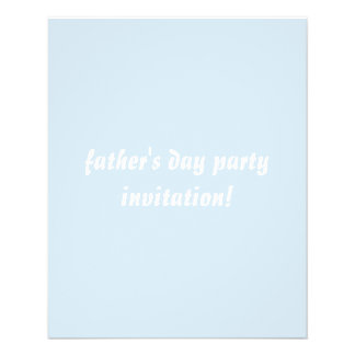 """father's day party invitation flyer 4.5""""x5.6"""" flye"""