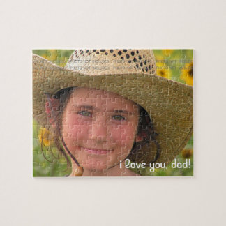 Fathers Day Photo Love You Dad Personalized Puzzles