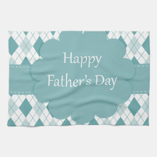 Fathers Day plaid Kitchen Towels