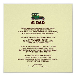 Father's Day Poem from Wife Posters