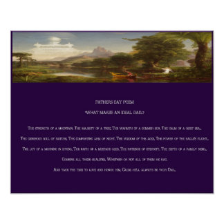 Father's Day Poem print Poster