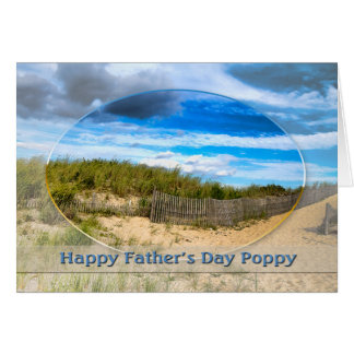 FATHER'S DAY -  POPPY - BEACH/OCEAN/DUNES SCENE CARD