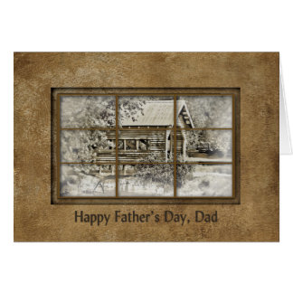 Father's Day- Preacher Dad - Window-Covered Bridge Card