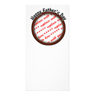 Father's Day Round Brown Photo Frame Photo Cards