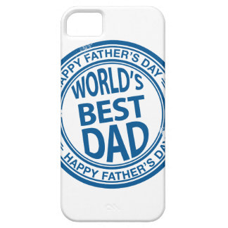 Father's day rubber stamp effect iPhone 5 cases