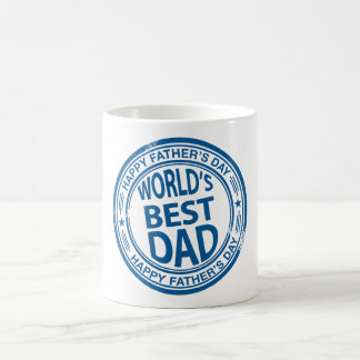 Father's day rubber stamp effect coffee mugs