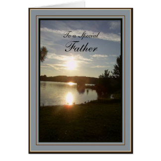 Father's Day Scenic Sunset Card