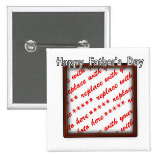 Father's Day Square Brown Photo Frame 15 Cm Square Badge