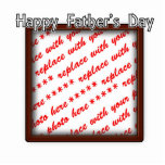 Father's Day Square Brown Photo Frame Acrylic Cut Out