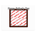 Father's Day Square Brown Photo Frame Postcards