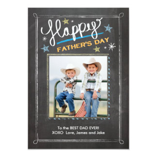 Father's Day Stars 13 Cm X 18 Cm Invitation Card