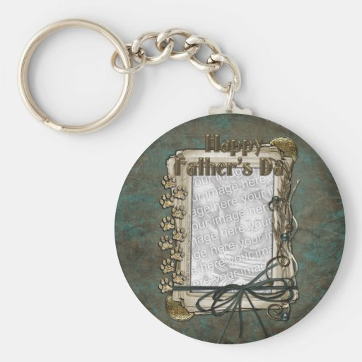 Fathers Day - Stone Paws - ADD YOUR PET PHOTO Key Chain