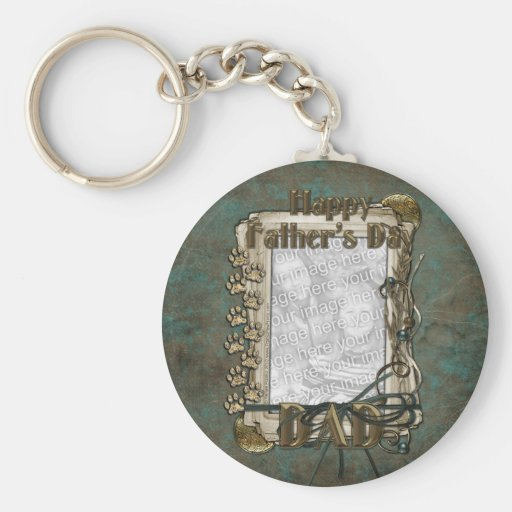 Fathers Day - Stone Paws - ADD YOUR PHOTO - DAD Key Chain