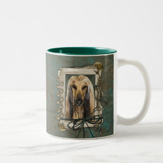 Fathers Day - Stone Paws - Afghan Two-Tone Coffee Mug