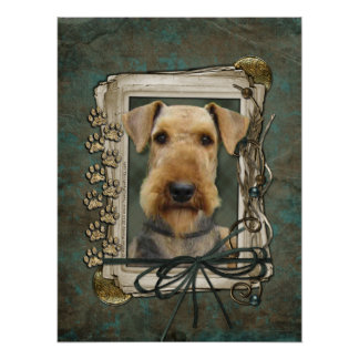 Fathers Day - Stone Paws - Airedale Print