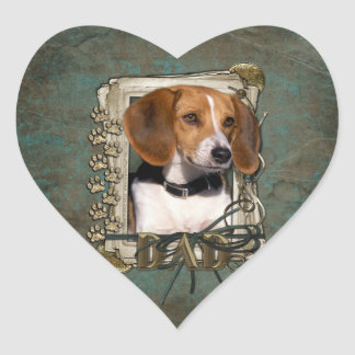 Fathers Day - Stone Paws - Beagle Sticker