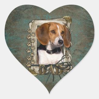 Fathers Day - Stone Paws - Beagle Sticker