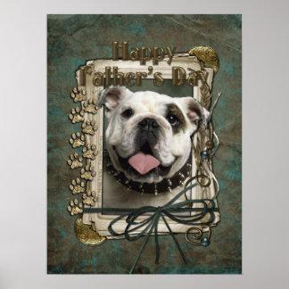 Fathers Day - Stone Paws - Bulldog Print