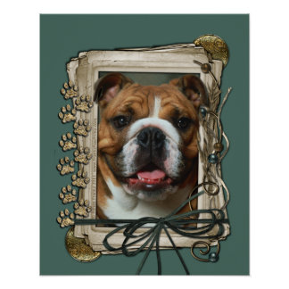 Fathers Day - Stone Paws - Bulldog Posters