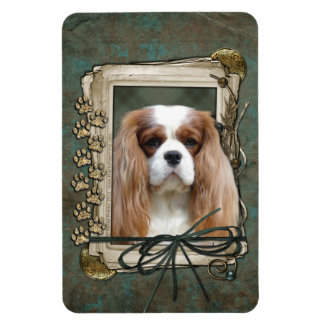 Fathers Day - Stone Paws - Cavalier - Blenheim Rectangle Magnets