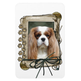 Fathers Day - Stone Paws - Cavalier - Blenheim Vinyl Magnets