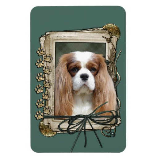 Fathers Day - Stone Paws - Cavalier - Blenheim Rectangular Magnets