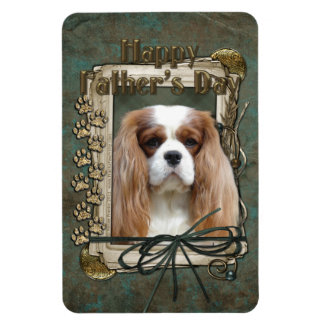 Fathers Day - Stone Paws - Cavalier - Blenheim Rectangular Magnet