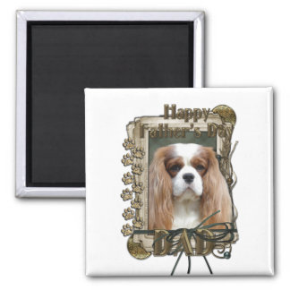 Fathers Day - Stone Paws - Cavalier - Dad Magnet