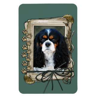 Fathers Day - Stone Paws - Cavalier King Charles S Vinyl Magnet