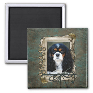 Fathers Day - Stone Paws - Cavalier Refrigerator Magnet