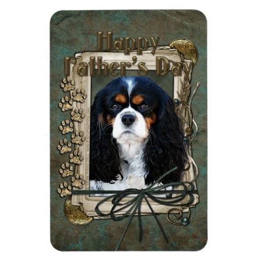 Fathers Day - Stone Paws - Cavalier - Tri Color Magnets