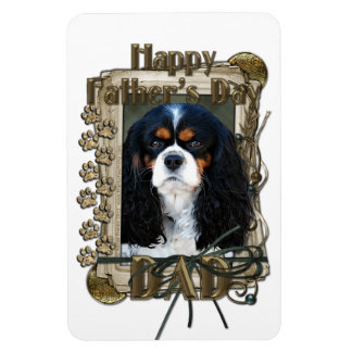 Fathers Day - Stone Paws - Cavalier - Tri Color Rectangular Magnets
