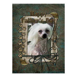 Fathers Day - Stone Paws - Chinese Crested Print