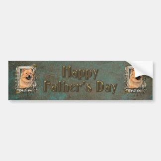 Fathers Day - Stone Paws - Chow Chow Bumper Sticker