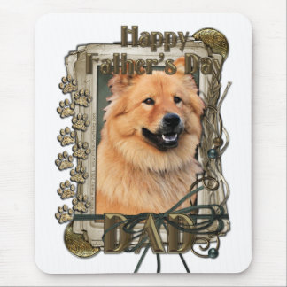 Fathers Day - Stone Paws - Chow Chow - Cinny - Dad Mouse Pad