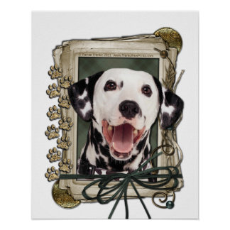 Fathers Day - Stone Paws - Dalmatian Posters