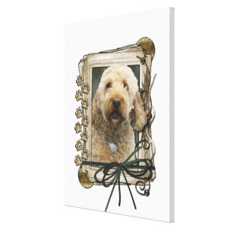 Fathers Day - Stone Paws - GoldenDoodle Gallery Wrapped Canvas