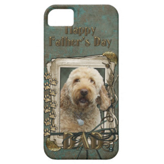 Fathers Day - Stone Paws - GoldenDoodle iPhone 5 Cover